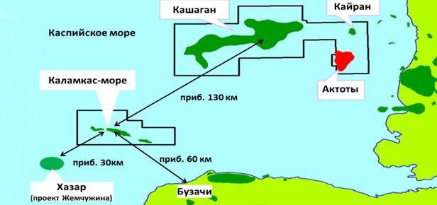 NCOC готовится к освоению месторождений Каламкас-море и Хазар в казахстанском секторе Каспийского моря