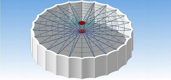Резервуар повышенной надёжности с динамическим взаимодействием конструктивных элементов