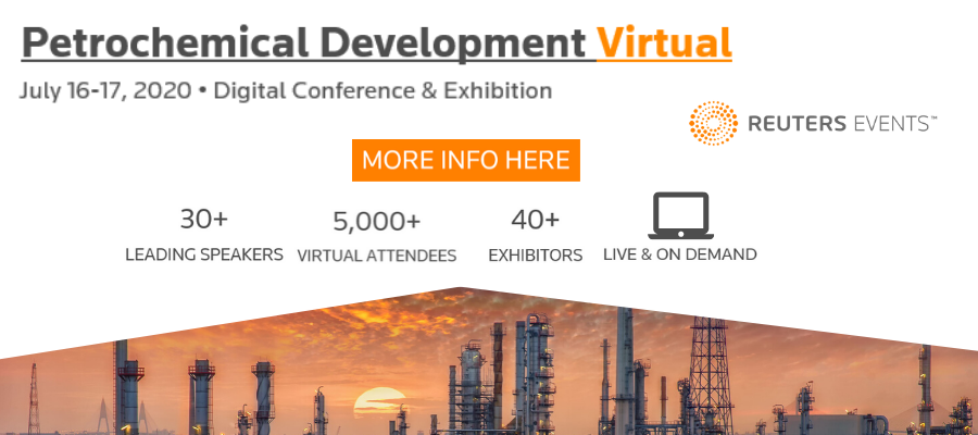 Tomorrow Reuters Events' free Petrochemical Development Virtual event goes live.