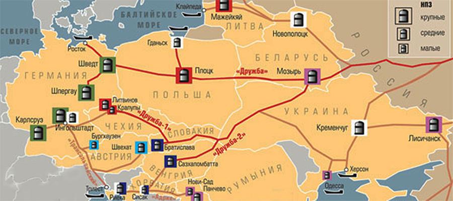 Транспортировка нефти по нефтепроводу Дружба в направлении Польша возобновлена. Частично