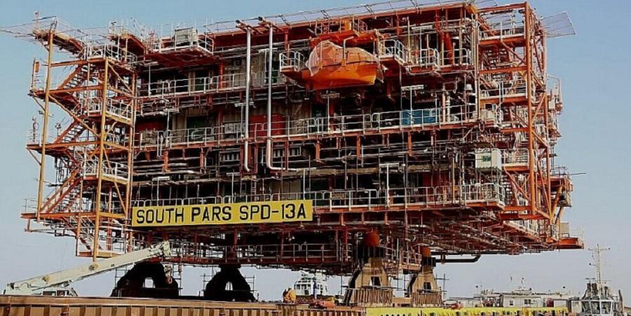 На 13-й фазе Южного Парса установлена 3-я платформа