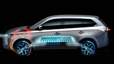 Электровнедорожник Mitsubishi Outlander PHEV впервые принял участие в ралли