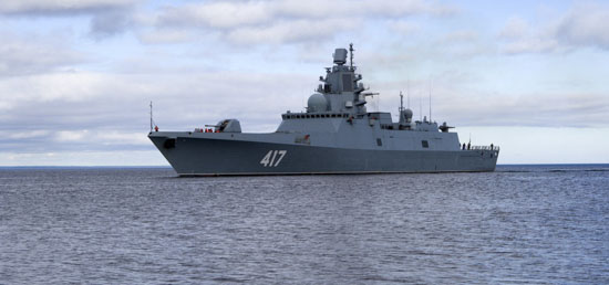 Фрегат «Адмирал Горшков» вышел в Баренцево море для выполнения задач боевой подготовки