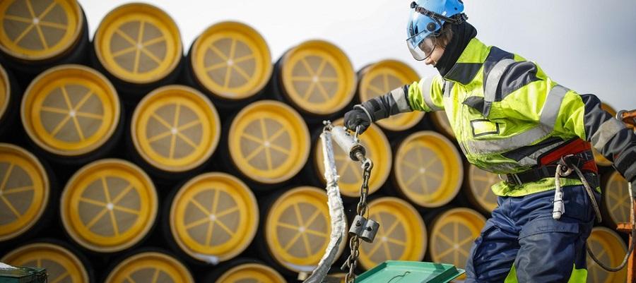 Последняя партия труб для газопровода Северный поток-2 покинула шведский порт Карлсхамн