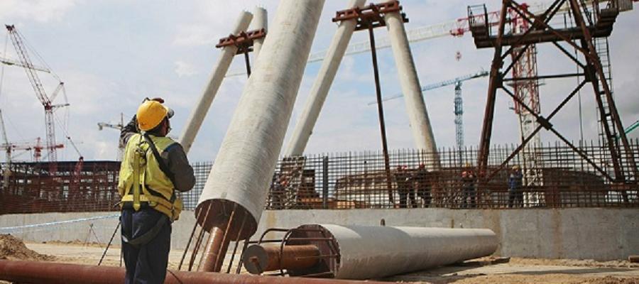 На Курской АЭС-2 начали строить градирню. Она вторая по высоте в РФ