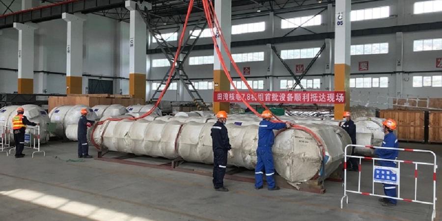 1-я партия оборудования для блока № 7 АЭС Тяньвань доставлена на стройплощадку