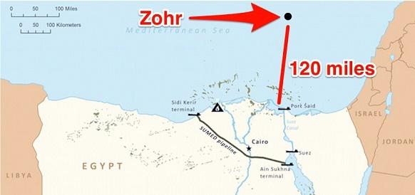 Производственные мощности на месторождении Zohr в Египте увеличены в 2 раза