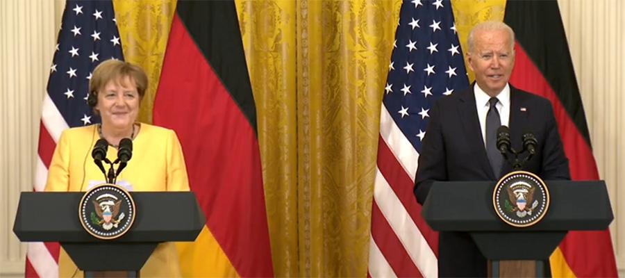 Д. Байден и А. Меркель обсудили проект газопровода Северный поток-2 на встрече в г. Вашингтоне