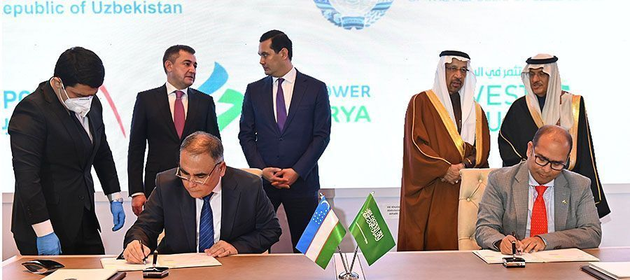 ACWA Power will build a power plant and 2 wind farms in Uzbekistan valued at $2.5 billion