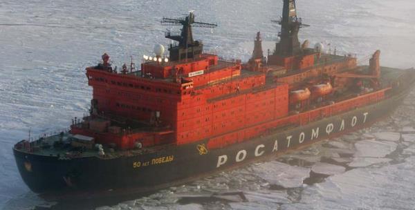 Атомный ледокол 50 лет Победы успешно обеспечил ледокольную проводку теплохода Nordic Bothnia с арктическим углем