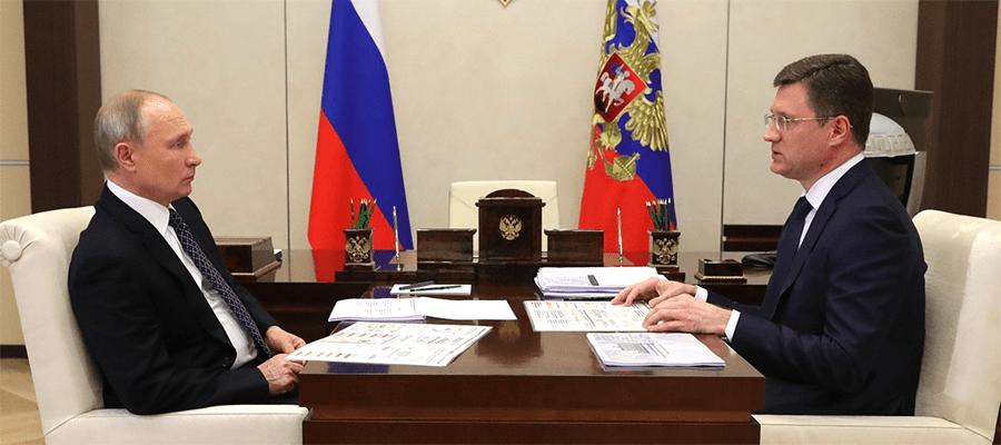 В день энергетика. Вице-премьер РФ А. Новак доложил В. Путину о положении дел в российском ТЭК