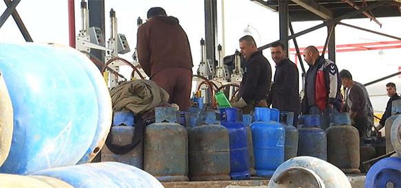 Ситуация с бытовым газом в Сирии стабилизируется. Завод в г. Баниясе заполняет пропан-бутаном до 15 тыс/сутки знаменитых газовых баллонов
