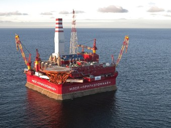 Газпром планирует запустить Приразломное месторождение уже в конце октября 2013 г