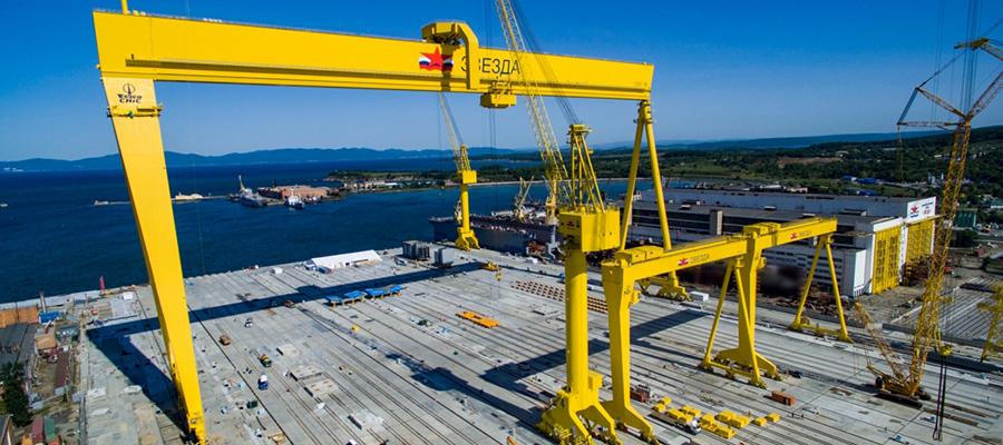 На ССК Звезда доставлено мощнейшее в РФ насосное оборудование для сухого дока