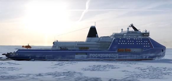 Атомный ледокол Лидер как основной аргумент России в Арктике