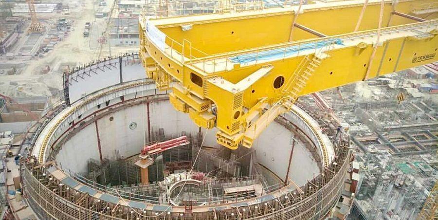 На энергоблоке № 1 АЭС Руппур выполнен монтаж балок полярного крана