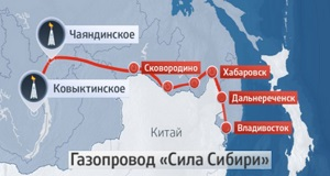 В. Путин и Чжан Гаоли открыли строительство газопровода Сила Сибири