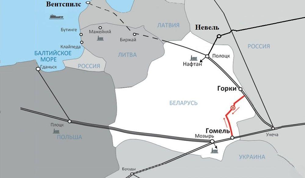 Министерство антимонопольного регулирования Белоруссии обновило тарифы на транспортировку нефти по 3 новым маршрутам