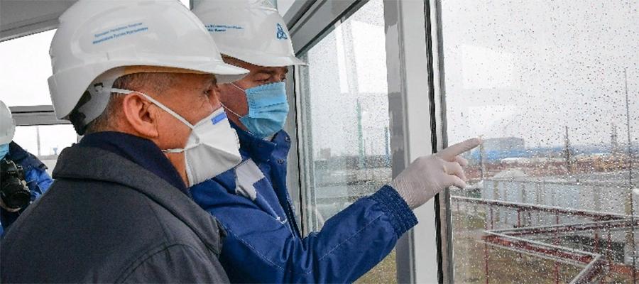 Президент Татарстана Р. Минниханов посетил Нижнекамскнефтехим