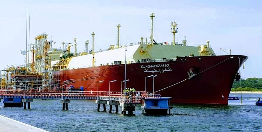 СПГ-терминал в польском Свиноуйсьце. Разгружен 62-й танкер -газовоз - Q-Flex Al Kharaitiyat