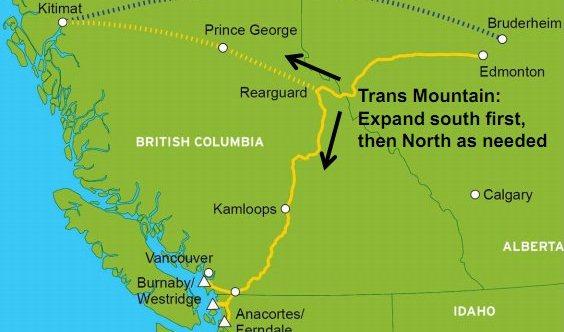 Правительство Канады одобрило увеличение мощности нефтепровода Trans Mountain почти в 3 раза -  до 800 тыс барр/сутки