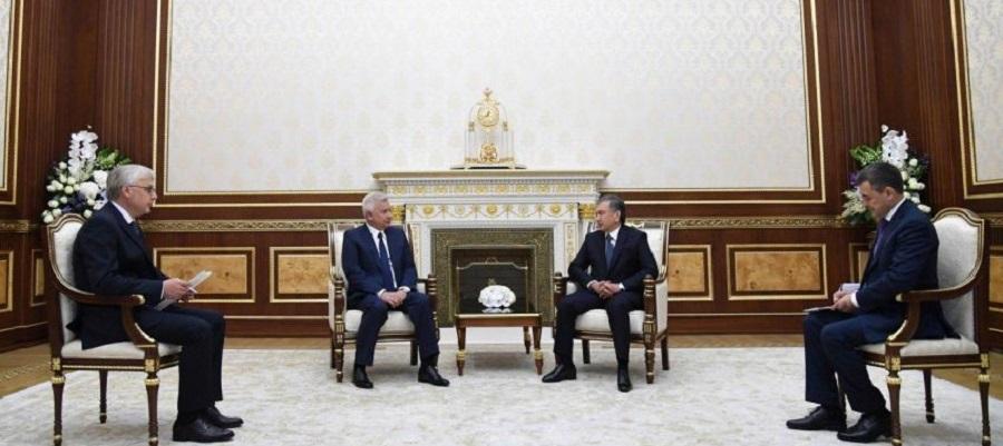 В. Алекперов провел рабочую встречу с президентом Узбекистана