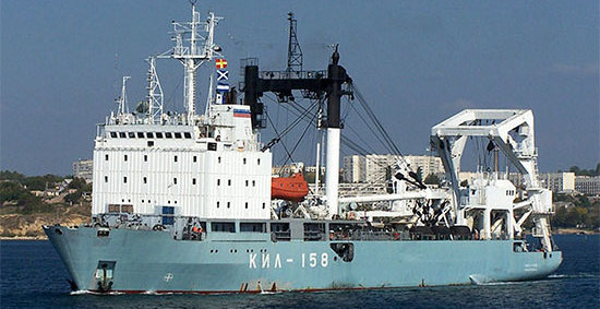 Килекторное судно Черноморского флота «КИЛ-158» вышло из Севастополя в Средиземное море