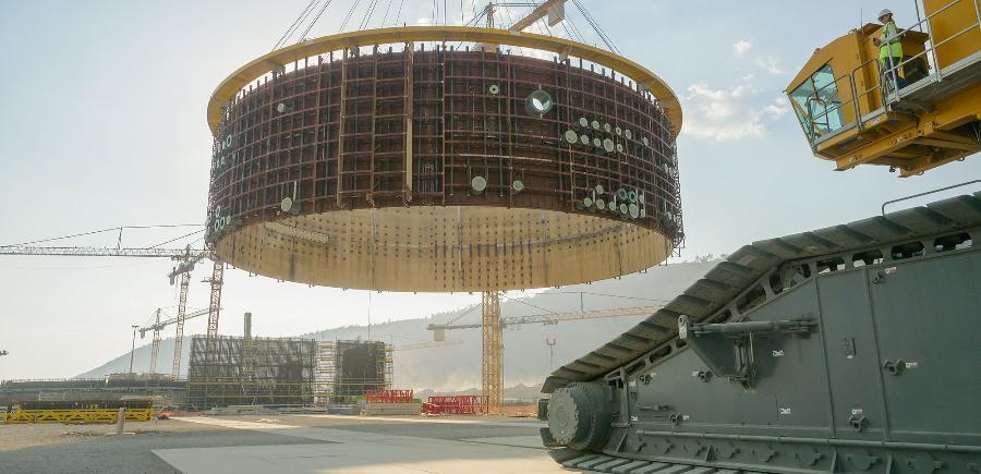 На 1-м энергоблоке АЭС Аккую смонтирован 3-й ярус внутренней защитной оболочки
