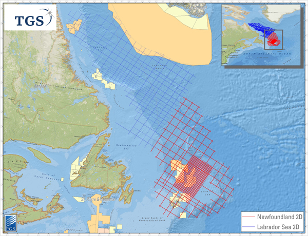 TGS Begins 2D Seismic Survey Offshore Canada