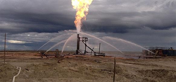 На Ван-Еганском месторождении Роснефти произошел сильный пожар. 8 человек пострадали Голосовать!