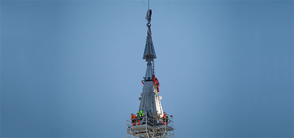 Небоскреб Лахта Центр, строящийся в г Санкт-Петербург для Газпрома, достиг проектной высоты