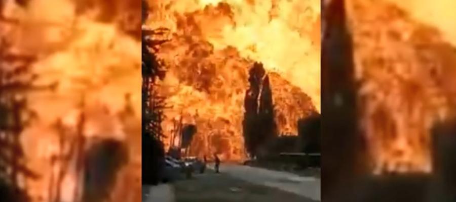 В Сунженском районе Чечни взлетела на воздух газовая заправка (ВИДЕО)