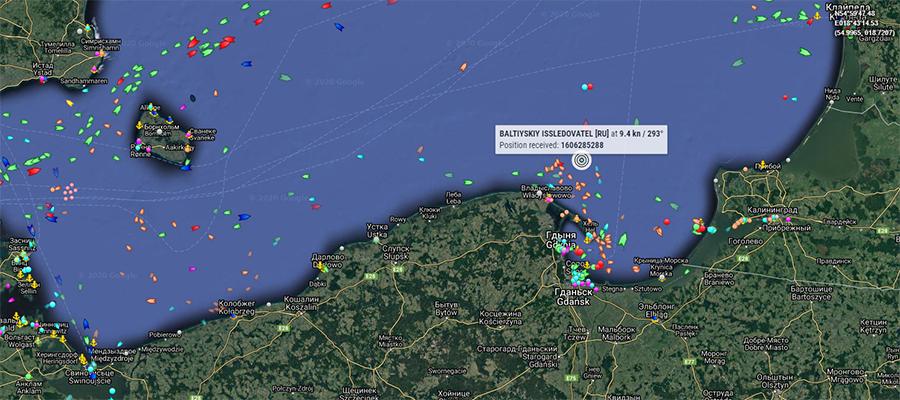Балтийский исследователь на пути в Мукран. Хроники МГП Северный поток-2 за 24-25 ноября 2020 г.