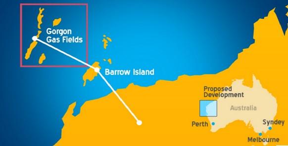 Срок ввода в эксплуатацию месторождения Greater Gorgon сдвинули на 2015 г