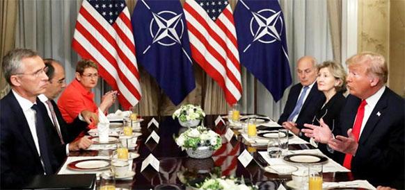 Д. Трамп оттачивает образность речи. Президент США назвал Германию заложницей России из-за Северного потока-2