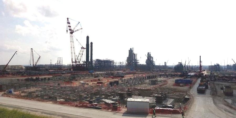 На Амурском ГПЗ полным ходом идет строительство 3-й технологической линии