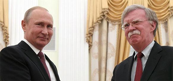 В. Путин-Д. Болтону: отношения России и США находятся не в лучшей форме, причина - внутриполитическая борьба в Штатах