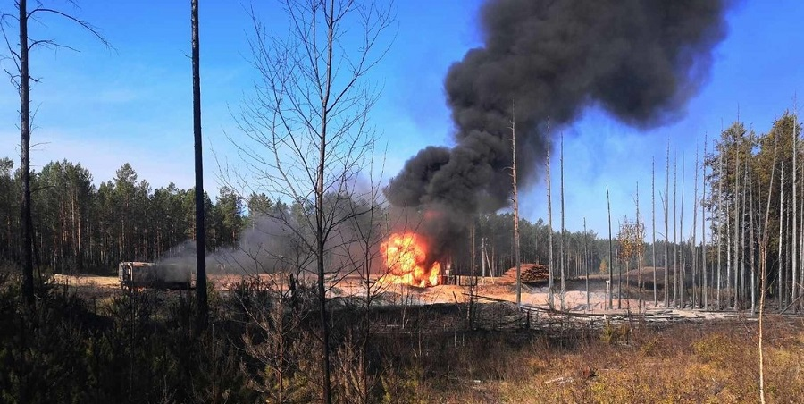 На пострадавшем от пожара газопроводе в Иркутской области сжигают остатки газа