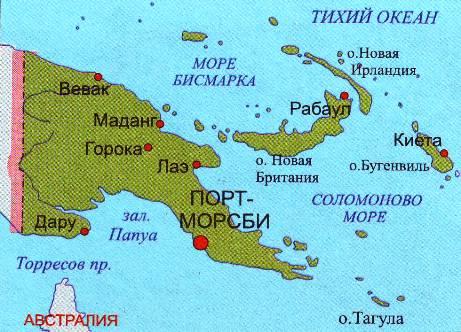 На побережье Папуа-Новой Гвинеи обнаружено крупное месторождения газа. Примерная стоимость 35 млрд дол
