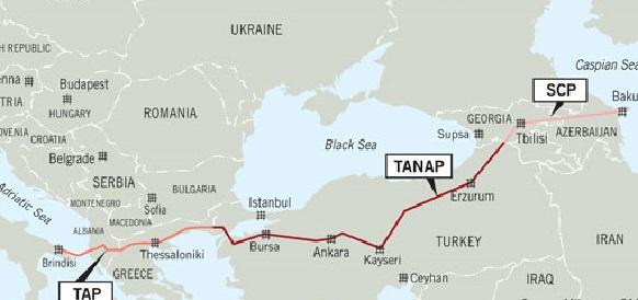 Плюс 6% за 3,5 месяца. Строительство газопровода TANAP завершено уже на 77,3%
