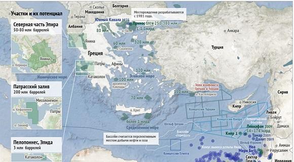 1-я ласточка. Греция договорилась с иностранными компаниями о разработке участка недр в Ионическом море