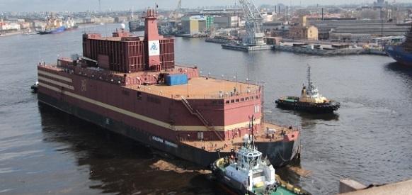 Физический пуск 1-го реактора плавучего энергоблока Академик Ломоносов запланирован на октябрь 2018 г