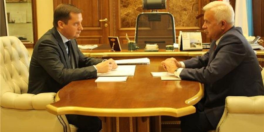 В. Алекперов провел встречу с губернатором Архангельской области