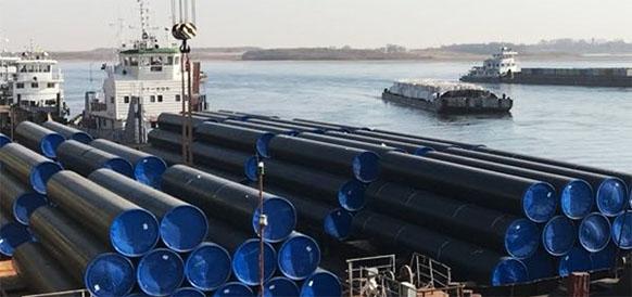 Ижорский трубный завод отгрузил трубы для подводного перехода газопровода Сила Сибири-1