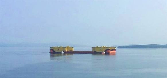 Unique floating dock with 40,000 t lifting capacity delivered on Zvezda Shipyard