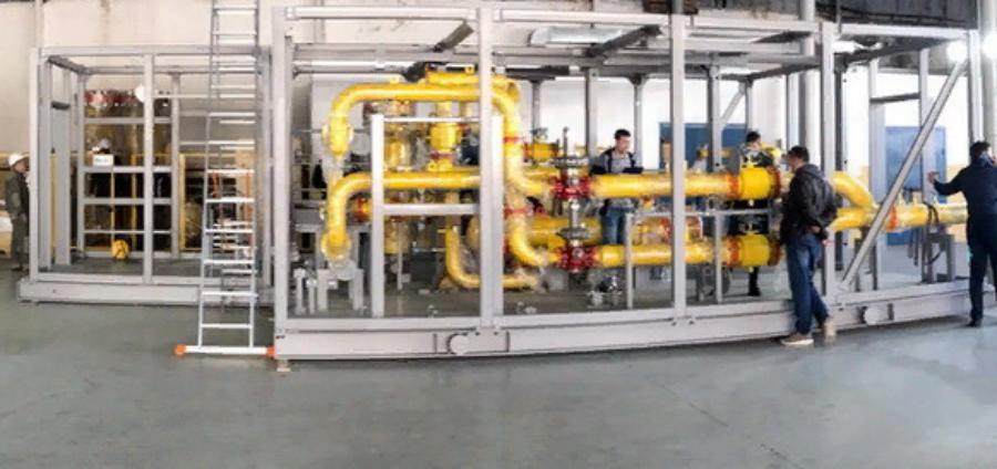 Установка подготовки топливного газа для энергоцентра Барсуковского месторождения прошла заводские испытания