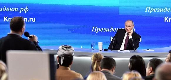 О бюджете, проблемах регионов, мировой политике и других вопросах поговорил В. Путин с представителями прессы