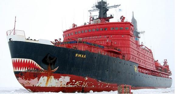 Атомоход Ямал ведет группировку Северного флота по проливу Вилькицкого в Арктике