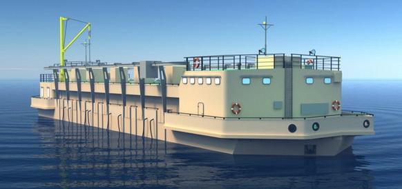 В Волгоградской области запущены плавучие насосные станции, насосы которых работают от электродвигателей РУСЭЛПРОМ