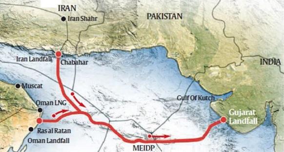 Индия намерена начать строительство подводного газопровода из Ирана. Китай - не против, Туркмения - расстроена